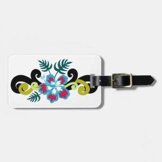 Étiquette À Bagage Floral hawaïen