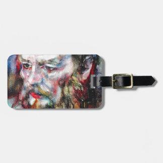 Étiquette À Bagage FYODOR DOSTOYEVSKY - aquarelle portrait.2