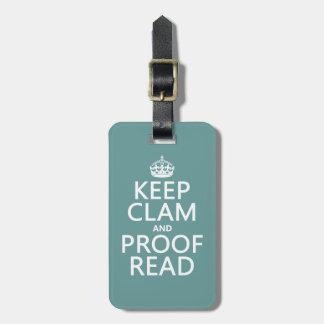 Étiquette À Bagage Gardez le calme et le corrigez sur épreuves