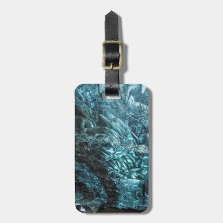 Étiquette À Bagage Glace bleue d'une caverne de glace, Islande
