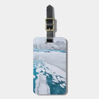 Étiquette À Bagage Glace congelée de glacier, Islande