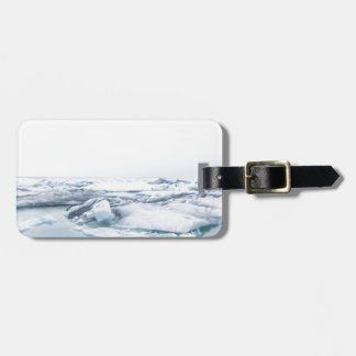 Étiquette À Bagage Glaciers de l'Islande - blanc