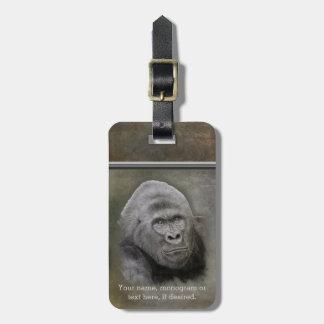 Étiquette À Bagage Gorille de Silverback, personnalisé