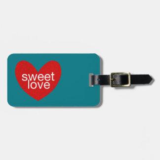 Étiquette À Bagage Gramme de Valentine