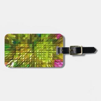 Étiquette À Bagage Graphiques de DIAMANT de vert vert