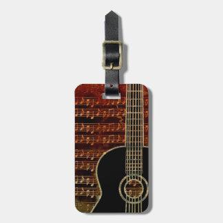 Étiquette À Bagage Guitare chaude ID280 de tons