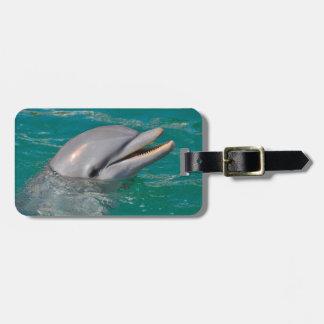 Étiquette À Bagage Haut étroit de dauphin