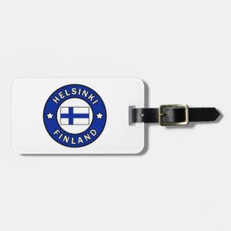 Étiquette À Bagage Helsinki Finlande