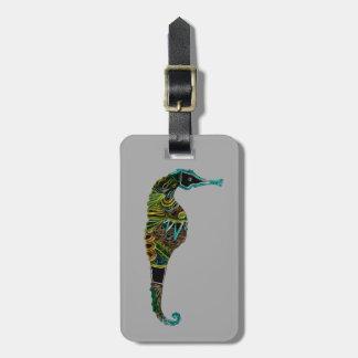 Étiquette À Bagage Hippocampe au néon