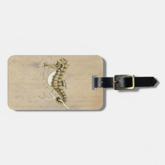 Étiquette À Bagage Hippocampe vintage