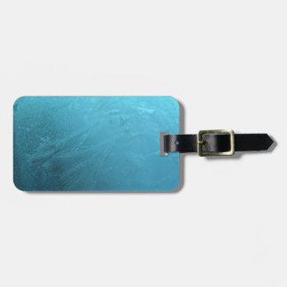 Étiquette À Bagage Hiver chic gelé de Frost de bleu glacier de l'eau