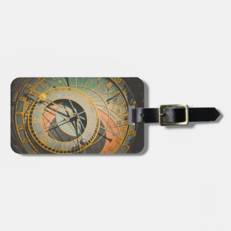Étiquette À Bagage Horloge astronomique de Prague dans la République