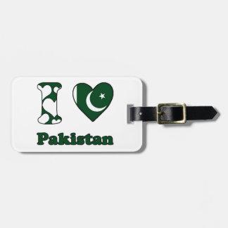 Étiquette À Bagage I love Pakistan