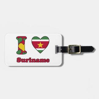 Étiquette À Bagage I love Surinam
