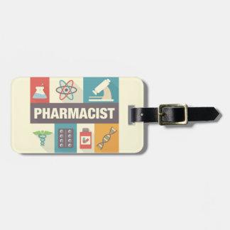 Étiquette À Bagage Iconique professionnel de pharmacien conçu