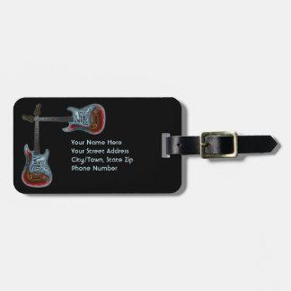 Étiquette À Bagage Identification pour la guitare électrique