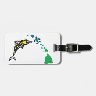 Étiquette À Bagage Îles d'Hawaï et dauphin 22 d'Hawaï