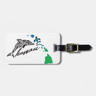 Étiquette À Bagage Îles d'Hawaï et dauphin 25 d'Hawaï