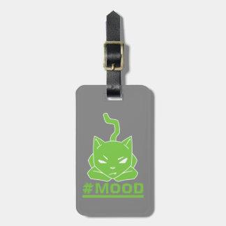 Étiquette À Bagage Illustration de logo de chaux de chat de #MOOD