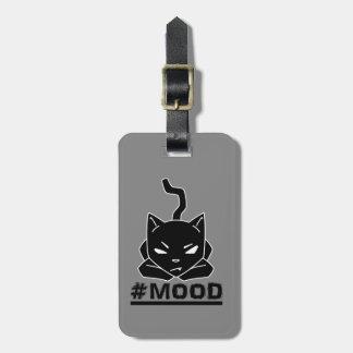 Étiquette À Bagage Illustration de logo de noir de chat de #MOOD