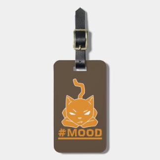 Étiquette À Bagage Illustration orange de logo de chat de #MOOD