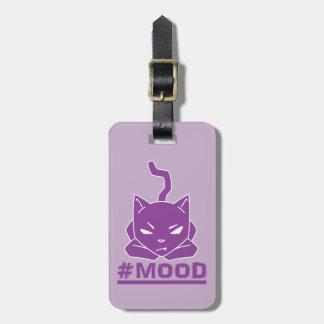 Étiquette À Bagage Illustration pourpre de logo de chat de #MOOD