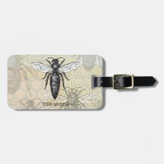 Étiquette À Bagage Illustration vintage de reine des abeilles
