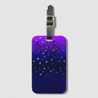 Étiquette À Bagage Image étoilée de belle nuit de galaxie de l'espace