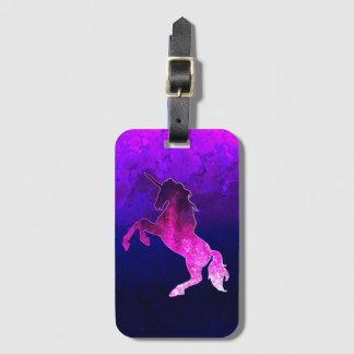 Étiquette À Bagage Image scintillante de belle licorne rose de