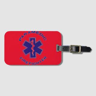Étiquette À Bagage Infirmier de sapeur-pompier