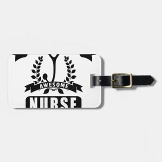 Étiquette À Bagage infirmière et papa