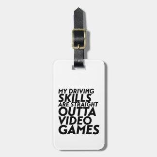 Étiquette À Bagage Jeux vidéo drôles de voiture de course pour le