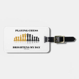 Étiquette À Bagage Jouer aux échecs éclaire mon jour (le jeu