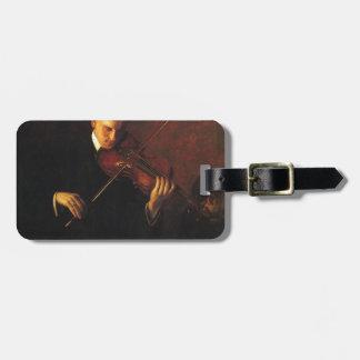 Étiquette À Bagage Joueur de violon