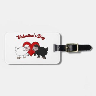 Étiquette À Bagage Jour de Valentines - mouton