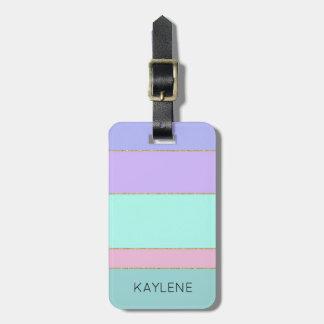 Étiquette À Bagage La couleur personnalisée d'équilibre d'or barre