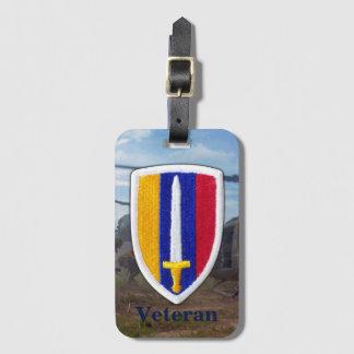 Étiquette À Bagage La guerre de l'armée USARV Vietnam Nam contrôle la