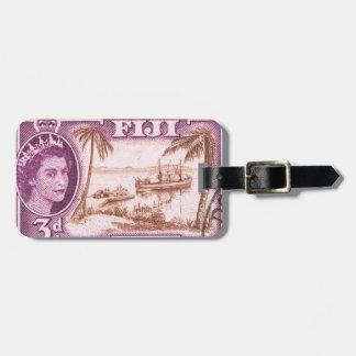 Étiquette À Bagage La Reine vintage Elizabeth Fidji