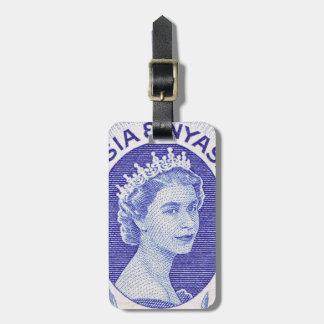 Étiquette À Bagage La Reine vintage Elizabeth II Rhodésie