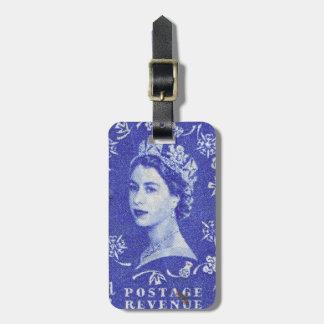 Étiquette À Bagage La Reine vintage Elizabeth R-U Grande-Bretagne