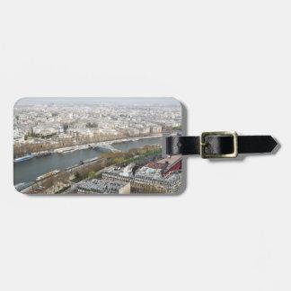 Étiquette À Bagage La rivière la Seine à Paris, France