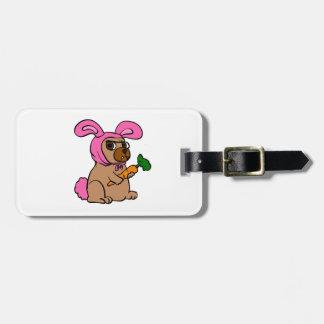Étiquette À Bagage Lapin de costume de chien