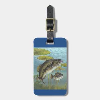 Étiquette À Bagage Largemouth Bass