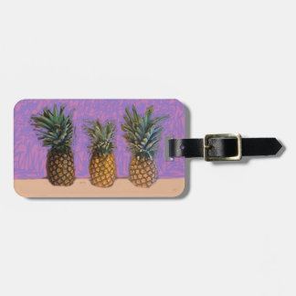 Étiquette À Bagage Le bagage de concepteur étiquette trois ananas