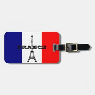 Étiquette À Bagage Le bagage étiquette avec le drapeau de la tour de