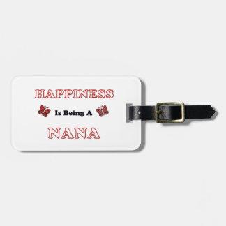 Étiquette À Bagage Le bonheur est Nana