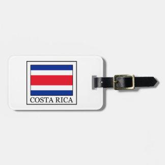 Étiquette À Bagage Le Costa Rica