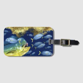 Étiquette À Bagage Le Dolphinfish (mahi de mahi) chassant met sur