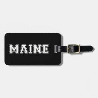 Étiquette À Bagage Le Maine