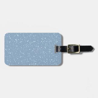 Étiquette À Bagage Le pays des merveilles chaud bleu d'hiver de Milou